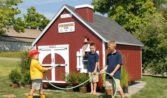 Firehouse Playhouse for Kids from Sheds Direct, Inc.