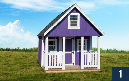 Amish built Kids Clubhouse Playhouse from Sheds Direct, Inc.