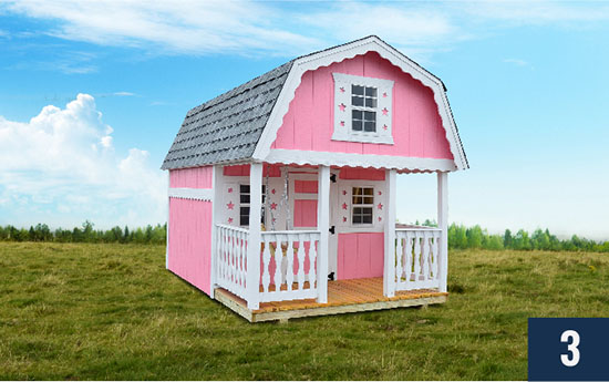 Amish built Kids Candyland Playhouse Play Barn from Sheds Direct, Inc.