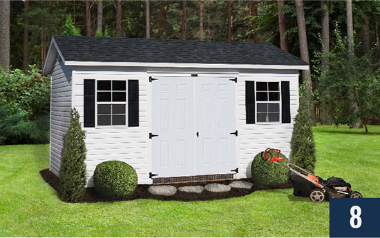 Amish built Vinyl Deluxe from Sheds Direct, Inc.