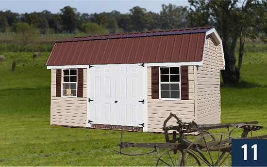 Amish Built Vinyl Barn from Sheds Direct, Inc.