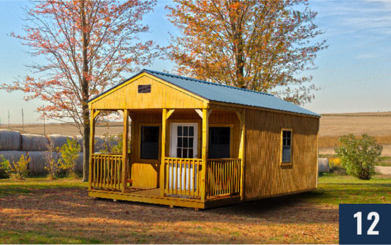 Amish Built Utilty Shed with Porch from Sheds Direct, Inc.