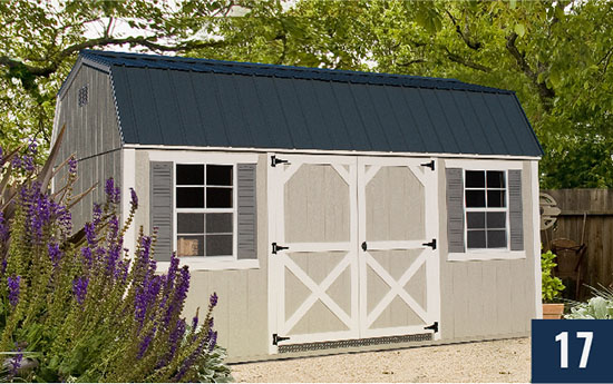 Amish built Painted Smart Barn from Sheds Direct, Inc.