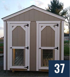 Custom Amish built Dog Kennel from Sheds Direct, Inc.