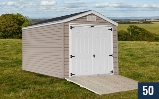 Vinyl Standard Amish built Shed from Sheds Direct, Inc.