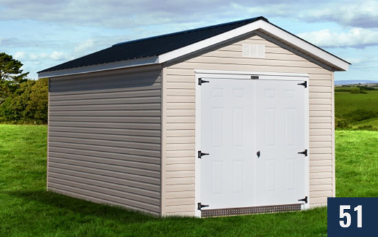 Vinyl Deluxe Amish built Shed from Sheds Direct, Inc.