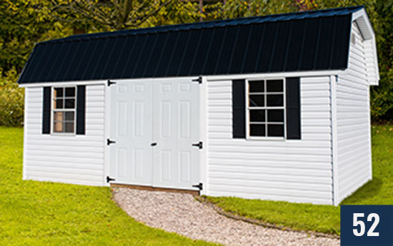 Vinyl Amish built Barn from Sheds Direct, Inc.