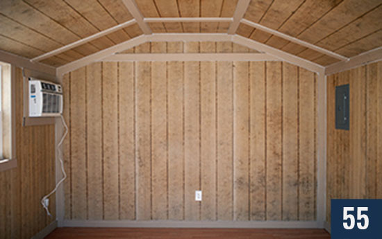 Custom Amish built Cottage Interior from Sheds Direct, Inc.