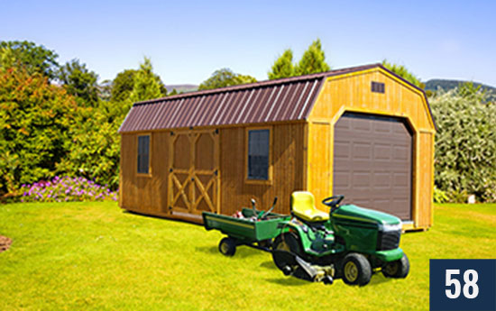 Lofted Amish built Barn from Sheds Direct, Inc.