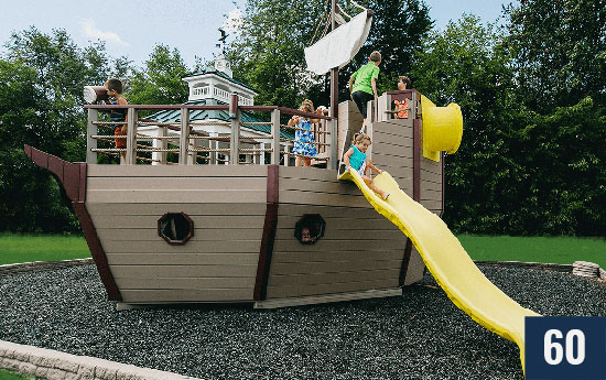 Custom Ship Pirate Playset and Playhouse for Kids from Sheds Direct, Inc.