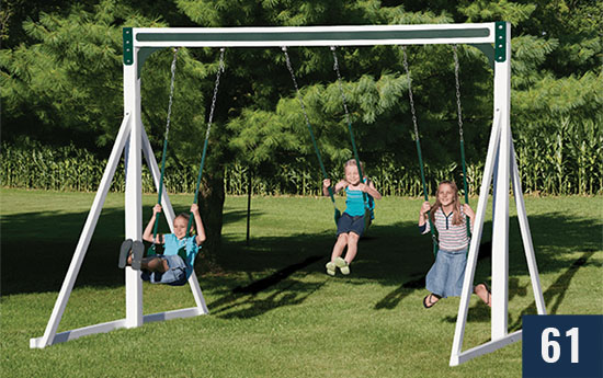 Custom Swingset for Kids from Sheds Direct, Inc.