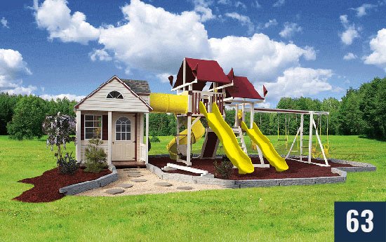 Custom Playset and Playhouse for Kids from Sheds Direct, Inc.