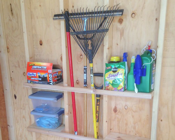 DIY Shed Organization from Sheds Direct, Inc.