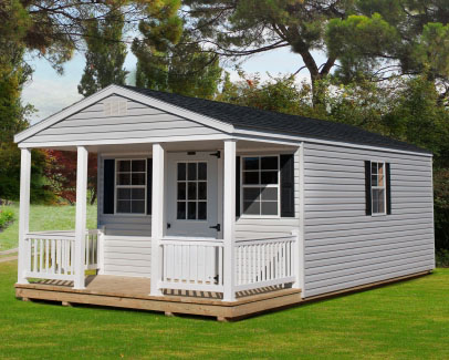 Amish built Vinyl Standard with Porch from Sheds Direct, Inc.