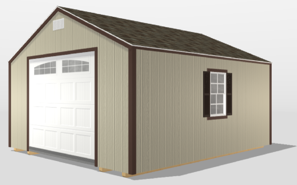 Tan Painted Smart Shed
